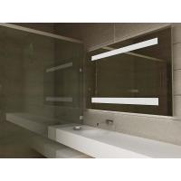 China Luxury Smart TV LED Light Up Bathroom Mirror With Bluetooth Loudspeaker on sale