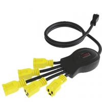 China US 5 outlet floor power bar with surge protector, ETL approved wholesale