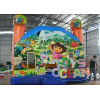 China Dora Cartoon Theme Inflatable Bouncy Castle For Children Party Play wholesale