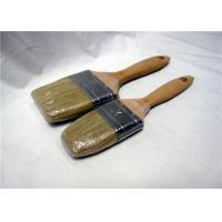 China Custom Durable Flat Paint Brushes Wooden Handle , Wall Paint Brush wholesale