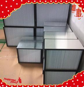 China 610x610x292mm separator heat-resistance deep-pleat high temperature resistance filter wholesale