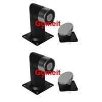China 60kgs 130lbs Electromagnetic Door Holder Floor Mounted With Emergency Release Button wholesale