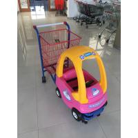 Quality 95 L Basket Volume Childrens Metal Shopping Trolley Travelator Casters CE / GS / ROSH for sale