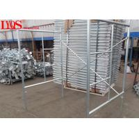 "China 4' × 5'7"" Versatile Scaffolding Ladder Frame Galvanized For Mason Works wholesale"