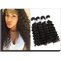 Quality Unprocessed 100 Virgin Human Hair Extensions Peruvian Deep Wave Hair for sale