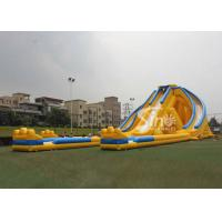 China 12m high 3 lanes giant inflatable hippo water slide for adults and kids outdoor inflatable water park fun on sale