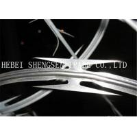 China High Tensile Galvanized Razor Barbed Wire 0.5mm thickness For Security Fence wholesale