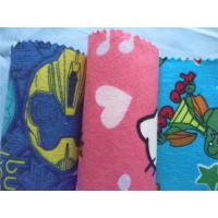 Buy cheap Baby Cotton Flannel Fabric Attractive Styles Cartoon Animal Soft Double Sided from wholesalers