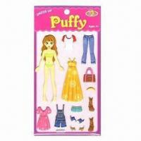 China Puffy Stickers, Ideal for 4yrs Old and Up wholesale
