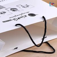 China Customs paperboard white dried food bags with one color printing Specialty packaging paper bags wholesale