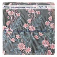 Buy cheap Embroidered Polyester Lace Fabric For Hot Summer Clothing High Fashion Floral from wholesalers