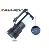 China Solar Power Panel Rechargeable Camping LED Lights Flashlight With Folding Handle wholesale