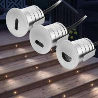 China 12V Low Voltage IP67 Mini Indoor & Outdoor Recessed Led Stair Lights Step lights Footlights Led Landscape Stairwell ligh wholesale