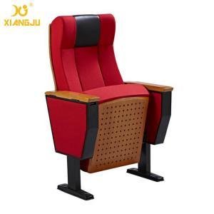 China Beech Wood Interlocking Seat Auditorium Lecture Hall Seating With Folding Armrest wholesale