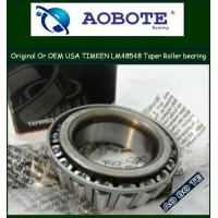 China Timken Tapered Roller Bearings P5 LM48548 For Rolling Mill wholesale
