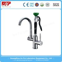 China Colorful Emergency Shower And Eyewash Station With Epoxy Coated wholesale