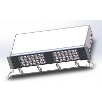 "China 96 Cores Fiber Optic Termination Box Drawer Type 19""Subrack  Loaded With Duplex LC Adapters wholesale"