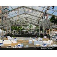 China 10x30m Transparent Roof Clear Event Tent / Waterprooof PVC Wedding Marquee wholesale