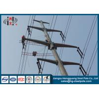 China 10-220KV Steel Transmission Poles For Electrical Distribution Over Headline Project Q235 wholesale
