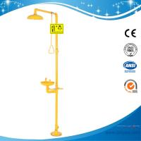 China SH712B-Galvanization Iron Safety shower & eyewash station,Carbon steel,yellow color on sale