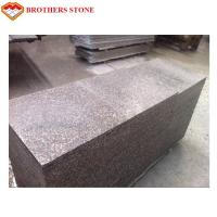 China Custom Peach Flower Red Granite Tiles , G687 Granite Tiles For Bathroom Floor wholesale