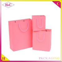 Quality Colours candy hand length handle paperboard wedding gift bag for sale