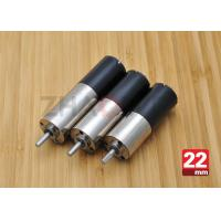 China 24V DC Reduction Gearbox DC Gear Motor , 22mm Diameter Planetary Drive Gear Motor wholesale