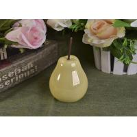 China Pearl Glazed Ceramic Pear Dining Kitchen Room Table Centerpiece Fruit Decoration wholesale