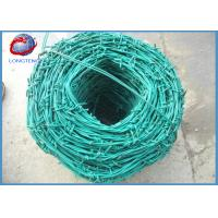 China High Tensile Hot Dipped Galvanized / PVC Coated Barbed Wire 200m / Roll wholesale