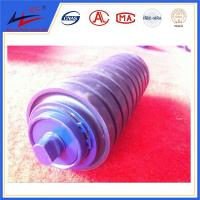 China Stable performance coal belt conveyor rubber cushion mining impact roller with CE/ISO wholesale