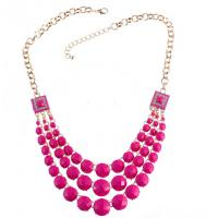 Wholesale Popular new three multicolored geometric resin diamond necklace from china suppliers