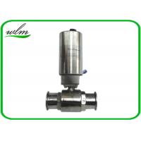 China Elegant Design Sanitary Ball Valves Stainless Steel , Pneumatic Actuated Ball Valve on sale