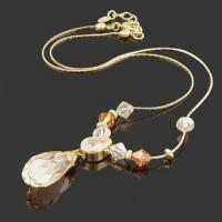 China Fashionable Necklace with Crystal Beads, Nickel- and Lead-free, Available in Various Designs wholesale