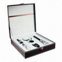 China Air Pressure Wine Opener Gift Sets with Foil Cutter, Wine Pourer and Wine Stopper on sale