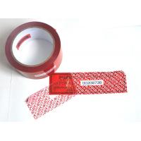 China Digital Russia Red Security Tape Provides Maximum Security With Perforation wholesale