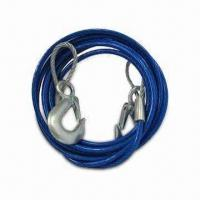 """China Heavy-duty 12' Emergency Tow Cable with Safety Hooks - 3/8"""" Wound-steel Wire Cable for Strength wholesale"""