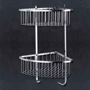 China Shower Corner Basket Bathroom Items Satin Stainless Steel Finishing wholesale