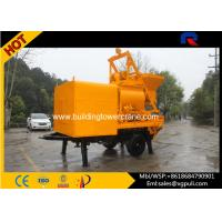 China Concrete Mixer Pump Trailer Double - Shaft Mixer 300L Oil Tank For Highways / Bridges wholesale