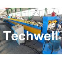China PLC Control System Steel Deck Roll Forming Machine With 24 Forming Stations wholesale