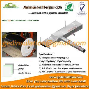 Aluminum foil coated fiberglass materials as duct insulation