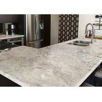 China White Marble Granite Kitchen Worktops Brown Stripes With Sink  wholesale