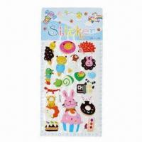 Buy cheap 3-D Puffy Stickers, Available in Various Styles and Designs, OEM Orders are from wholesalers