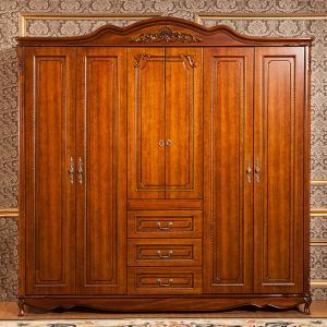 China 6 Feet Wardrobe 6 Door , Modern Solid Oak Wardrobe Ce Iso Certificated wholesale