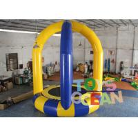 China Air Sealed Inflatable Interactive Games Bungee Jump Trampoline With Safety Belt wholesale