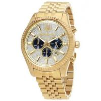 China Wholesale NEW MICHAEL KORS MK8494 MENS LEXINGTON YELLOW GOLD CRYSTAL PAVE WATCH wholesale