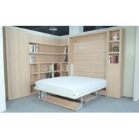 Buy cheap Vertical Double Wall Bed with Bookshelf and Table Natural Color E1 Grade Panel from wholesalers
