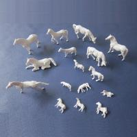 China 1:87 unpainted horse,model animals,white 1:87 horse,scale models,HO horse,HO animals wholesale