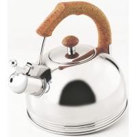 China 3 L, 0.3mm Stainless Steel Whistling Water Kettle with Brown Moving Handle wholesale