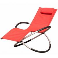 China Comfortable Other Furniture Folding Rocking Beach Chair With Pillow Steel Frame wholesale