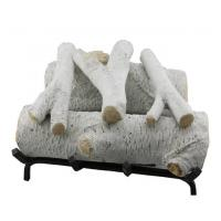 China Garden White Concrete Fake Birch Logs For Gas Fireplace S08-62C Extra Sharp wholesale